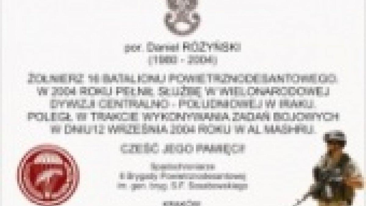 Pamięci porucznika Daniela Różyńskiego