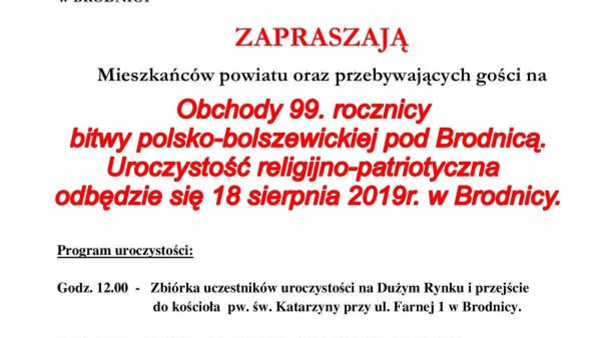 99. rocznica bitwy Polsko-Bolszewickiej pod Brodnicą